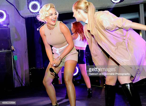 Rita Ora and Iggy Azalea attends the REVEAL Calvin Klein Fragrance Launch at 4 World Trade Center on September 8 2014 in New York City