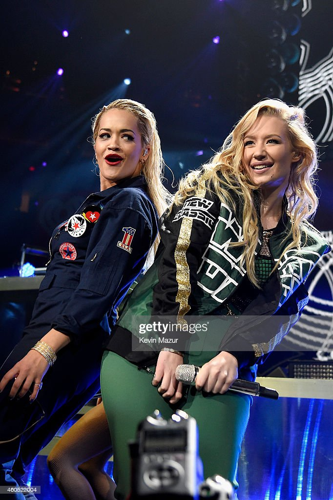 Rita Ora And Iggy Azalea Perform Onstage During Hot 99 5 S Jingle Ball 2017