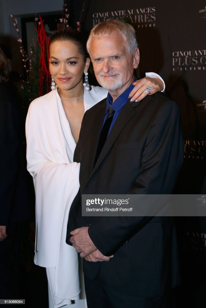 Rita Ora and James Foley attend the 'Fifty Shades Freed - 50 Nuances Plus Clair' Paris Premiere at Salle Pleyel on February 6, 2018 in Paris, France.