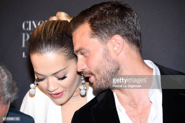 Rita Ora and Jamie Dornan attend 'Fifty Shades Freed 50 Nuances Plus Claires' Premiere at Salle Pleyel on February 6 2018 in Paris France