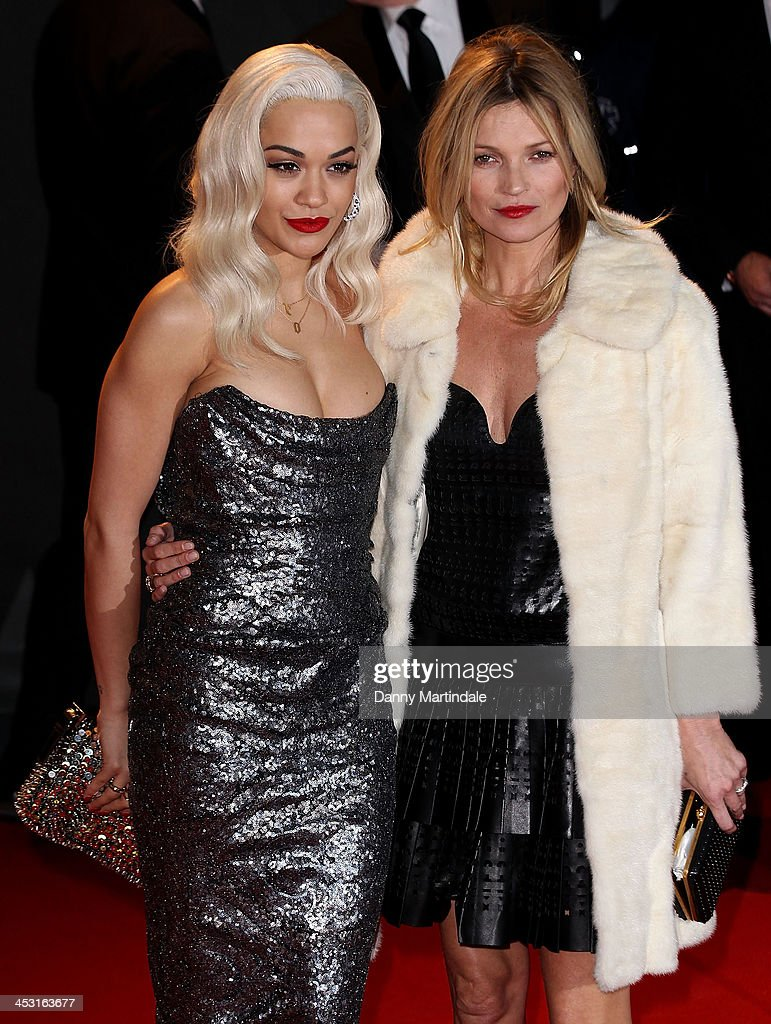 Rita Ora and Kate Moss attends the British Fashion Awards 2013 at London Coliseum on December 2, 2013 in London, England.