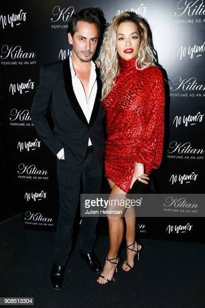 Rita Ora and Kilian Hennessy attend the Kilian Party as part of Paris Fashion Week on January 21 2018 in Paris France