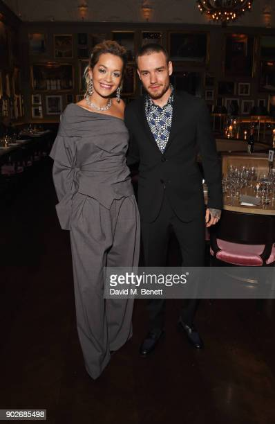 Rita Ora and Liam Payne attend the GQ London Fashion Week Men's 2018 closing dinner hosted by Dylan Jones and Rita Ora at Berners Tavern on January 8...