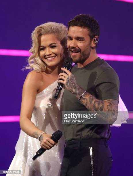 Rita Ora and Liam Payne attend Westfield London's 10th anniversary celebrations at Westfield White City on October 30, 2018 in London, England.