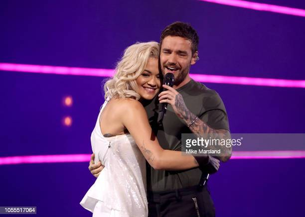 Rita Ora and Liam Payne perform on stage during Westfield London's 10th anniversary celebrations at Westfield White City on October 30, 2018 in...