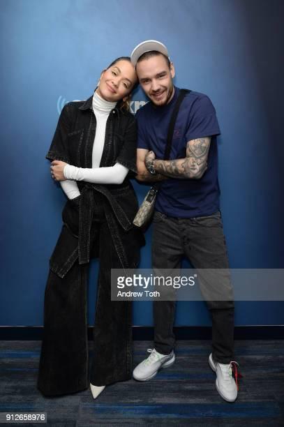 Rita Ora and Liam Payne visit SiriusXM at SiriusXM Studios on January 31 2018 in New York City