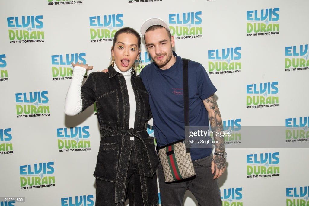 Rita Ora (L) and Liam Payne visit 'The Elvis Duran Z100 Morning Show' at Z100 Studio on January 31, 2018 in New York City.
