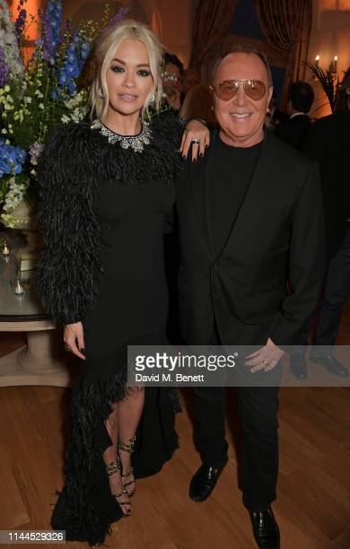 Rita Ora and Michael Kors attend the 10th Annual Filmmakers Dinner hosted by Charles Finch, Edward Enninful and Michael Kors at the Hotel du...