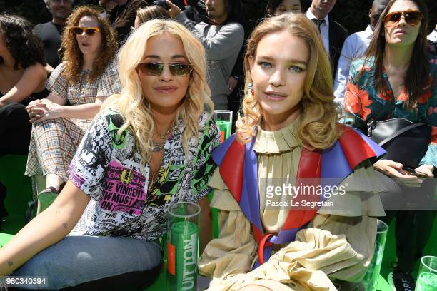 Rita Ora and Natalia Vodianova attend the Louis Vuitton Menswear Spring/Summer 2019 show as part of Paris Fashion Week on June 21 2018 in Paris France
