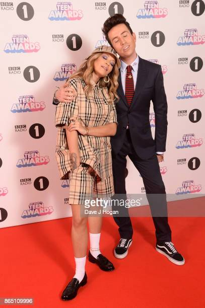 Rita Ora and Nick Grimshaw attend the BBC Radio 1 Teen Awards 2017 at Wembley Arena on October 22 2017 in London England