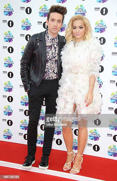 Rita Ora and Nick Grimshaw attend the BBC Radio 1 Teen Awards at Wembley Arena on November 3 2013 in London England