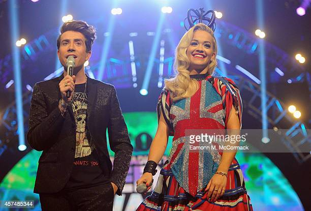 Rita Ora and Nick Grimshaw present the Radio One Teen Awards at Wembley Arena on October 19 2014 in London England