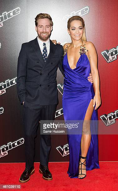 Rita Ora and Ricky Wilson attend the launch of The Voice UK Series 4 at The Mondrian Hotel on January 5 2015 in London England