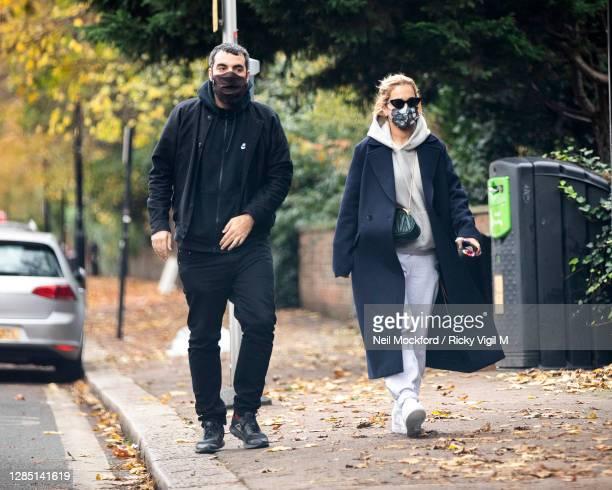 Rita Ora and Romain Gavras seen in North London on November 11, 2020 in London, England.