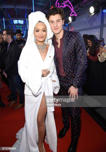 Rita Ora and Shawn Mendes attend the MTV EMAs 2017 held at The SSE Arena Wembley on November 12 2017 in London England