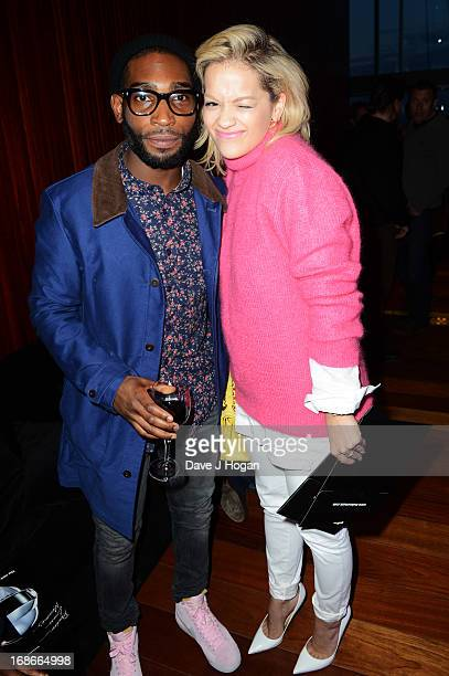Rita Ora and Tinie Tempah attend a listening party for Daft Punk's new album 'Random Access Memories' at The Shard on May 13 2013 in London England
