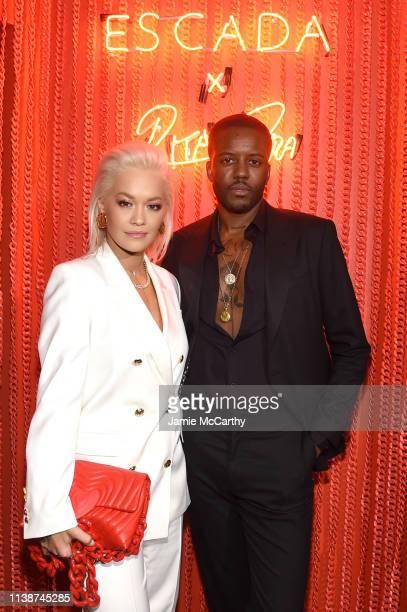 Rita Ora and Vas Morgan attend the launch of the ESCADA Heartbag by Rita Ora on March 27 2019 in New York City