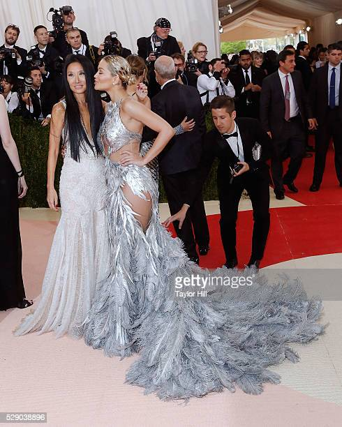 Rita Ora and Vera Wang attend the 2016 Costume Institute Gala at the Metropolitan Museum of Art on May 02 2016 in New York New York