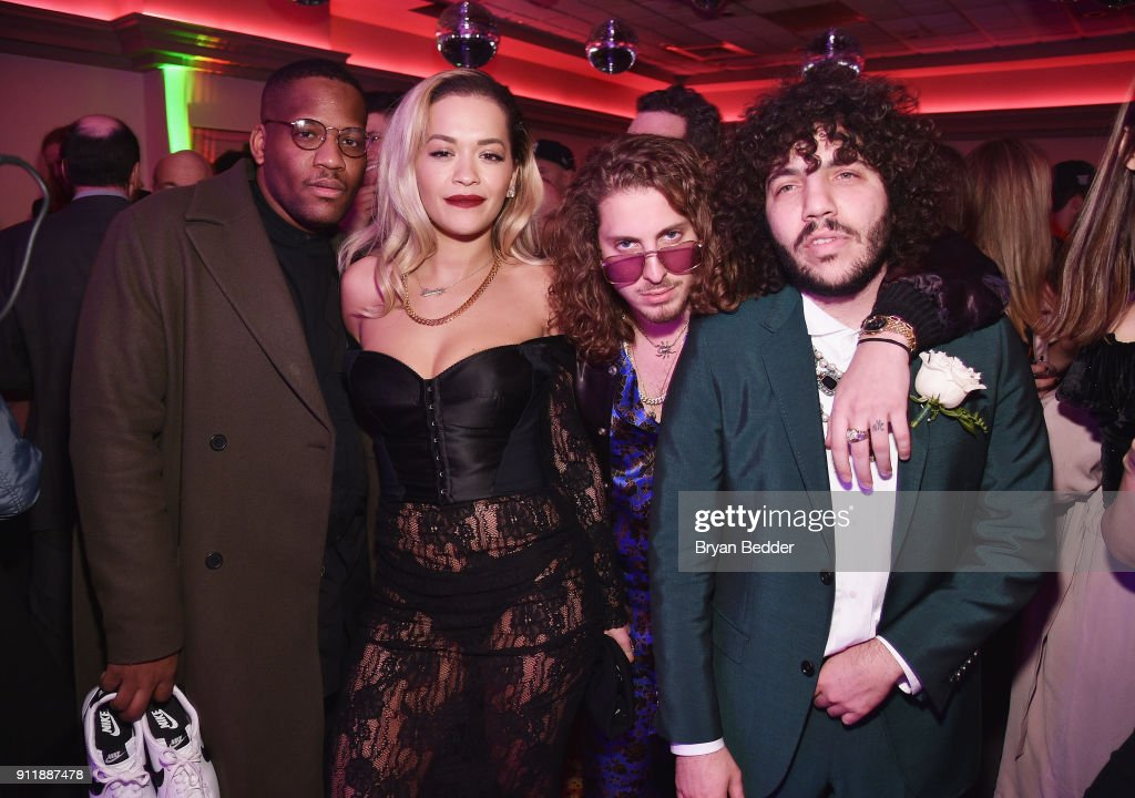 Rita Ora, Andrew Watt and Benny Blanco attend the 60th Annual Grammy Awards after party hosted by Benny Blanco and Diplo with SVEDKA Vodka and Interscope Records on January 29, 2018 in New York City.