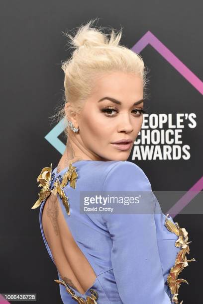 Rita Ora arrives at E People's Choice Awards at Barker Hangar on November 11 2018 in Santa Monica California