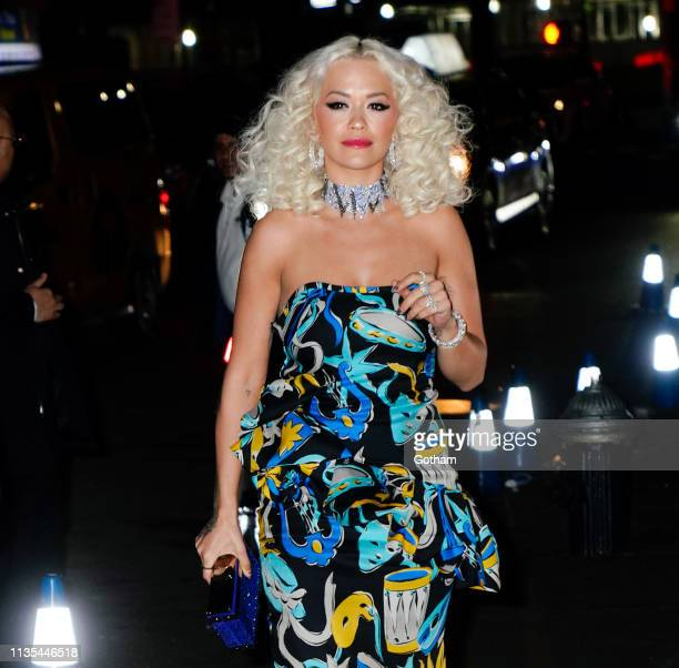 Rita Ora arrives at Marc Jacob and Char DeFrancesco wedding reception at the Pool on April 6 2019 in New York City