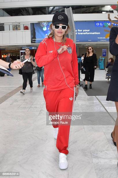 Rita Ora arrives at Nice airport during the 70th annual Cannes Film Festival at on May 26 2017 in Cannes France