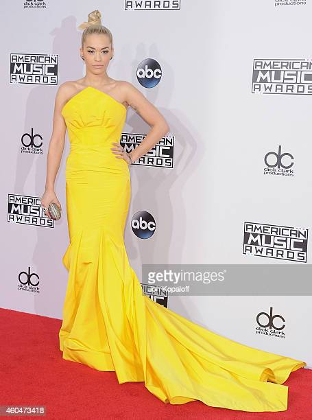Rita Ora arrives at the 2014 American Music Awards at Nokia Theatre LA Live on November 23 2014 in Los Angeles California