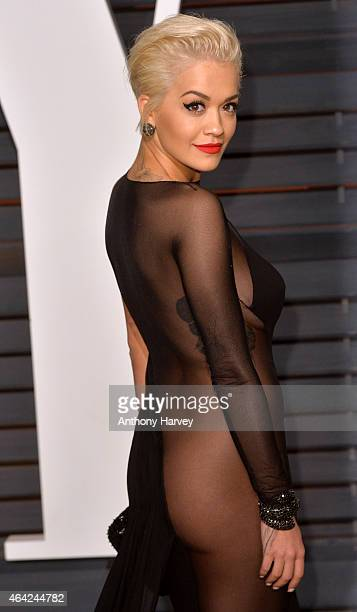 Rita Ora arrives at the 2015 Vanity Fair Oscar Party Hosted By Graydon Carter at Wallis Annenberg Center for the Performing Arts on February 22 2015...