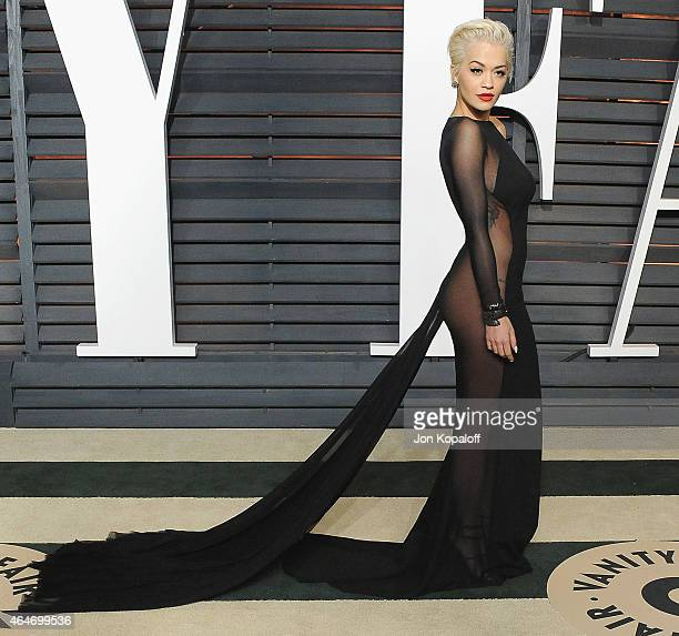 Rita Ora arrives at the 2015 Vanity Fair Oscar Party Hosted By Graydon Carter at Wallis Annenberg Center for the Performing Arts on February 22, 2015...