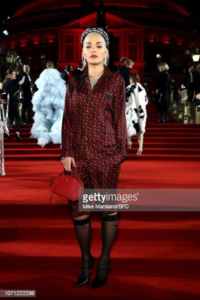 Rita Ora arrives at The Fashion Awards 2018 In Partnership With Swarovski at Royal Albert Hall on December 10 2018 in London England