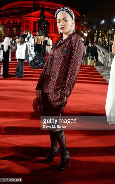 Rita Ora arrives at The Fashion Awards 2018 in partnership with Swarovski at the Royal Albert Hall on December 10 2018 in London England
