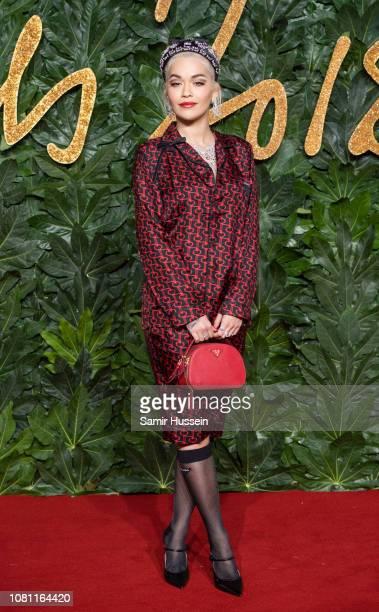 Rita Ora arrives at The Fashion Awards 2018 In Partnership With Swarovski at Royal Albert Hall on December 10 2018 in London England