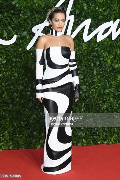 Rita Ora arrives at The Fashion Awards 2019 held at Royal Albert Hall on December 02 2019 in London England