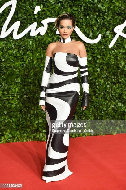Rita Ora arrives at The Fashion Awards 2019 held at Royal Albert Hall on December 02 2019 in London England