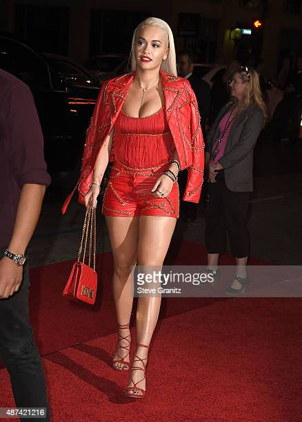 Rita Ora arrives at the Premiere Of The Vladar Company's Jeremy Scott The People's Designer at TCL Chinese 6 Theatres on September 8 2015 in...