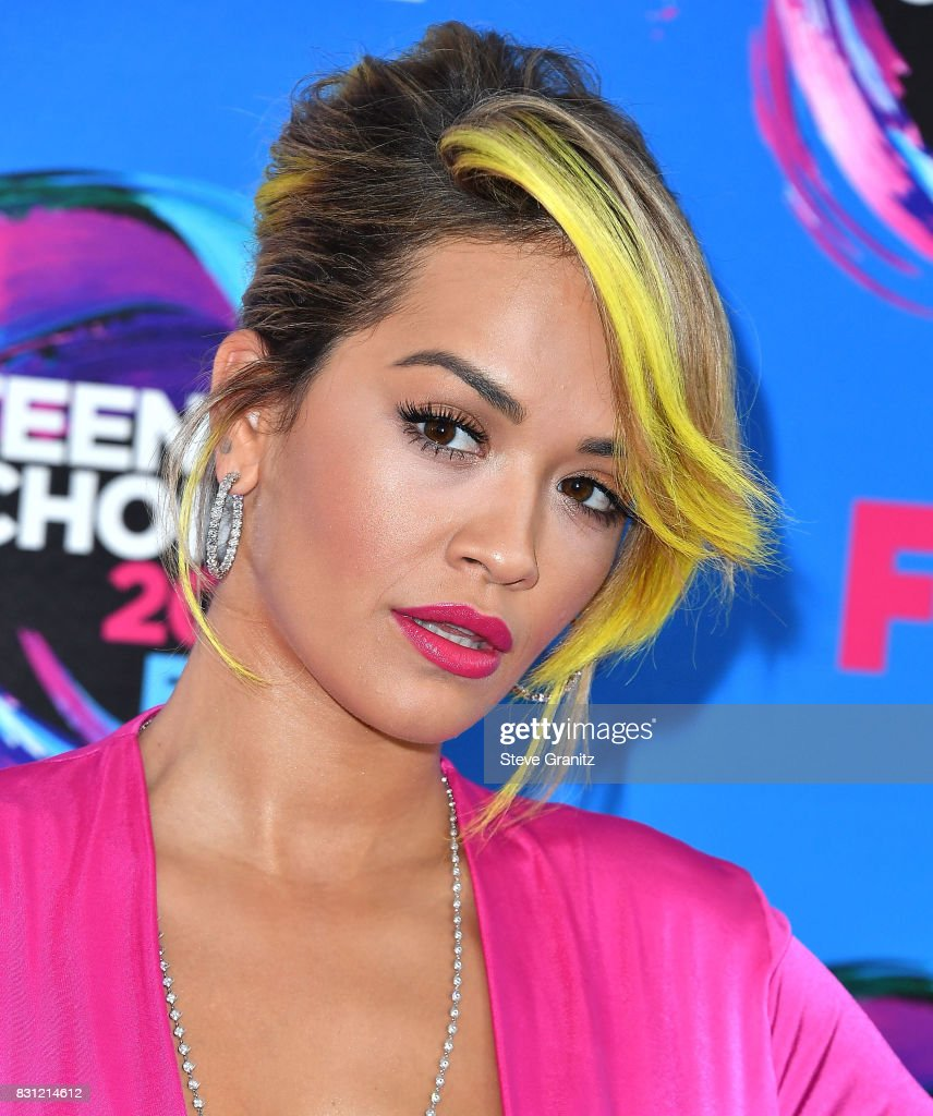 Rita Ora arrives at the Teen Choice Awards 2017 at Galen Center on August 13, 2017 in Los Angeles, California.