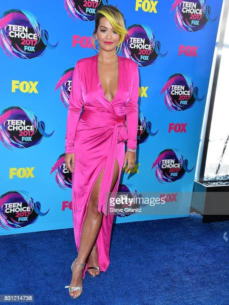 Rita Ora arrives at the Teen Choice Awards 2017 at Galen Center on August 13 2017 in Los Angeles California