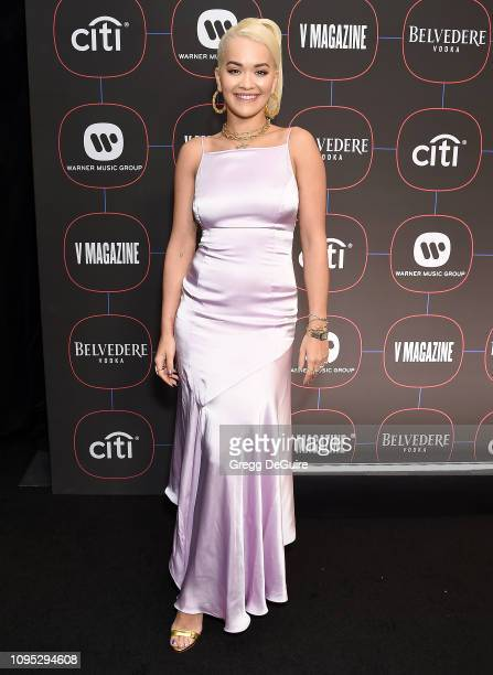Rita Ora arrives at the Warner Music Group PreGrammy Celebration at Nomad Hotel Los Angeles on February 7 2019 in Los Angeles California