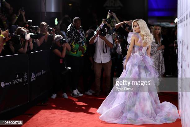 Rita Ora arrives for the 32nd Annual ARIA Awards 2018 at The Star on November 28 2018 in Sydney Australia