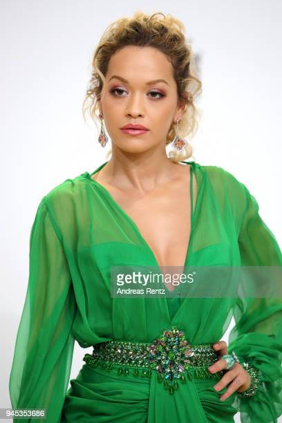 Rita Ora arrives for the Echo Award at Messe Berlin on April 12 2018 in Berlin Germany