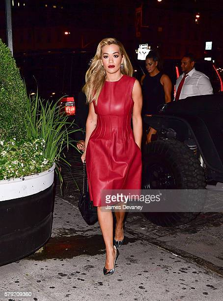 Rita Ora arrives to the Soho House on July 22, 2016 in New York City.