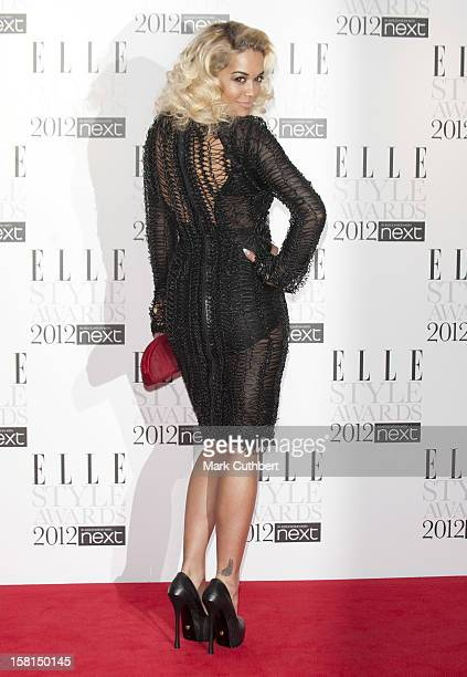 Rita Ora Arriving At The 2012 Elle Style Awards At The Savoy Hotel In Central London