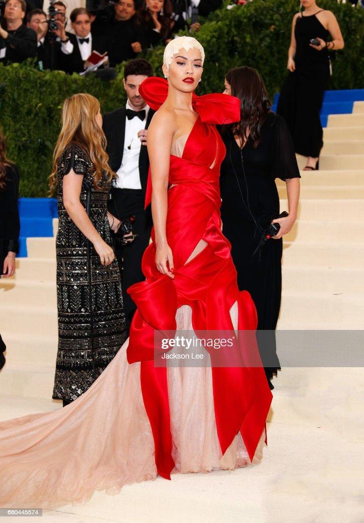 Rita Ora at 'Rei Kawakubo/Comme des Garçons:Art of the In-Between' Costume Institute Gala at Metropolitan Museum of Art on May 1, 2017 in New York City.