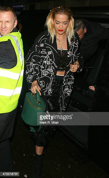 Rita Ora at Ronnie Scott's for a Prince live show on February 17, 2014 in London, England.