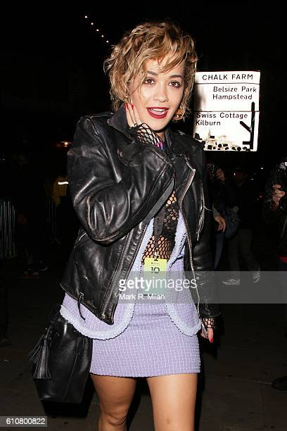 Rita Ora at the Roundhouse for the Apple Music Britney Spears Concert on September 27 2016 in London England