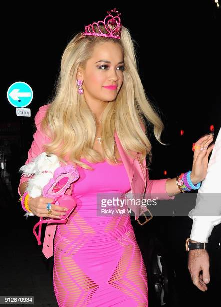 Rita Ora attend the Death Of A Geisha VIP Halloween Party on November 1 2014 in London England