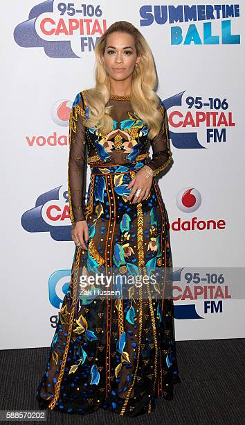 Rita Ora attending the Capital FM Summertime Ball at Wembley Stadium in London