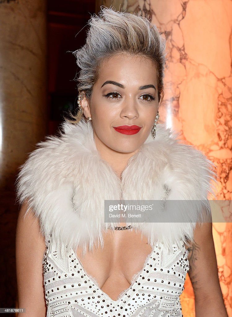 Rita Ora attends a private dinner celebrating the Victoria and Albert Museum's new exhibition 'The Glamour Of Italian Fashion 1945 - 2014' at Victoria and Albert Museum on April 1, 2014 in London, England.