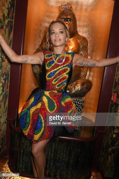 Rita Ora attends as Tiffany Co partners with British Vogue Edward Enninful Steve McQueen Kate Moss and Naomi Campbell to celebrate fashion and film...