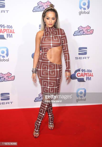 Rita Ora attends Capital's Jingle Bell Ball 2019 at The O2 Arena on December 07 2019 in London England